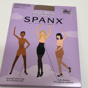 Spanx High Waist All the way Up Pantyhose.